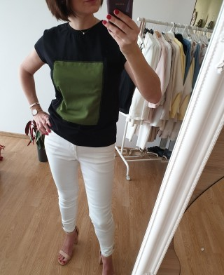 T-SHIRT SQUARE CZARNA -...