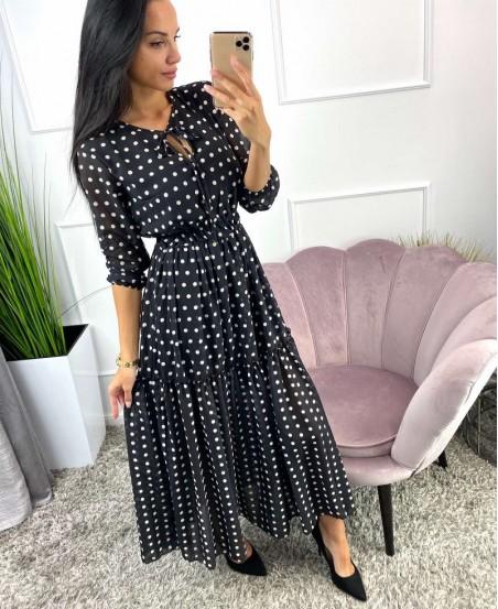 Sukienka w grochy BLACK